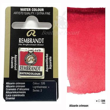 Aquarelle Extra-fine Rembrandt - Cramoisi d'Alizarine 326 série 2