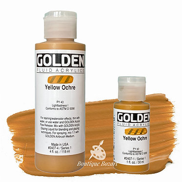 Golden Fluide Acryl - Yellow Ochre S1