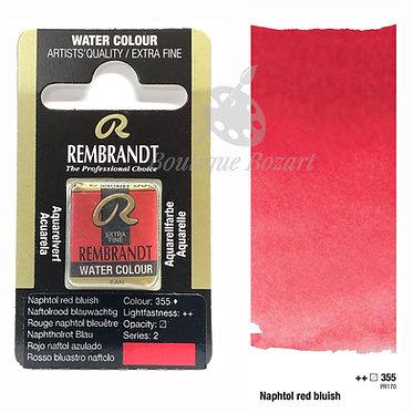 Aquarelle Extra-fine Rembrandt - Rouge Naphtol Bleuâtre 355 série 2