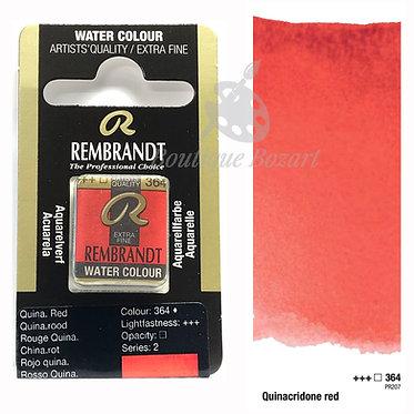 Aquarelle Extra-fine Rembrandt - Rouge Quinacridone 364 série 2