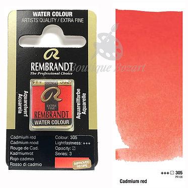 Aquarelle Extra-fine Rembrandt - Rouge Cadmium 305 série 3