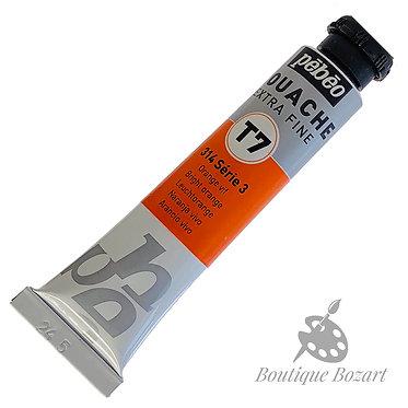 Gouache T7 de Pébéo 20 ml Orange Vif 314 Série 3