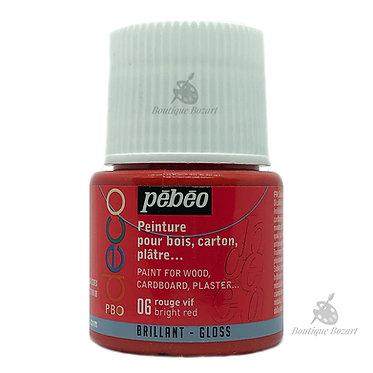 Peinture décorative opaque Deco Brillant Rouge vif 06
