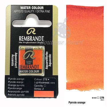 Aquarelle Extra-fine Rembrandt - Orange Pyrrole 278 série 2