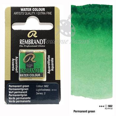 Aquarelle Extra-fine Rembrandt - Vert Permanent 662 série 2