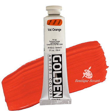Acrylique Golden Heavy Body 59ml Vat Orange 403 S8
