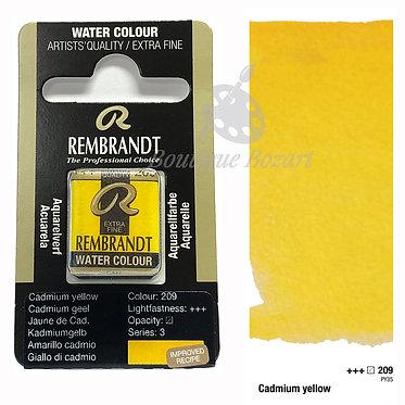 Aquarelle Extra-fine Rembrandt - Jaune Cadmium 209 série 3