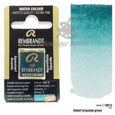 Aquarelle Extra-fine Rembrandt - Vert Turquoise Cobalt 682G série 3