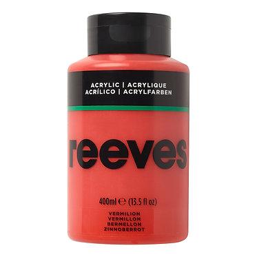 Acrylique fine Reeves 400ml Vermillon