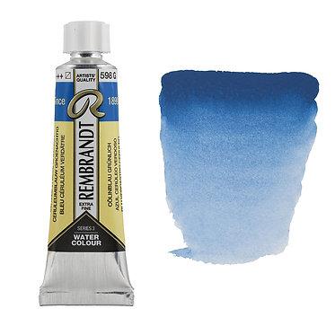 Aquarelle Extra-fine Rembrandt tube 10ml - Bleu Ceruleum Verdâtre 598 S3