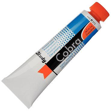 Huiles dilluable à l'eau Cobra Study Cyan Primaire 572