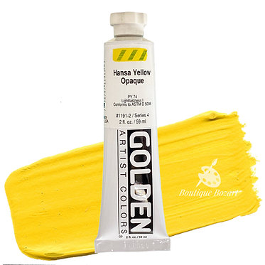 Acrylique Golden Heavy Body 59ml Jaune Hanza Opaque 191 S4
