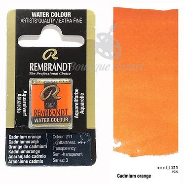 Aquarelle Extra-fine Rembrandt - Orange Cadmium 211 série 3