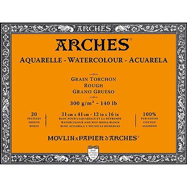 Bloc Arches grain Torchon 300g 2 formats