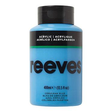 Acrylique fine Reeves 400ml Bleu de ceruléum