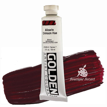 Acrylique Golden Heavy Body 59ml Alizarine Cramoisie 450 S7