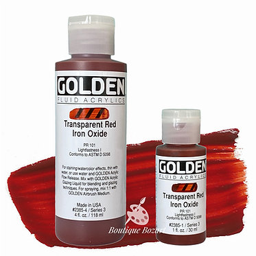 Golden Fluide Acryl - Transparent Red Iron Oxide S3