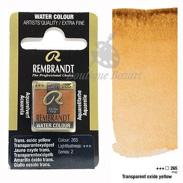 Aquarelle Extra-fine Rembrandt - Jaune Oxyde Transparent 265 série 2