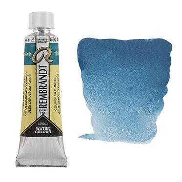 Aquarelle Extra-fine Rembrandt tube 10ml - Bleu Ceruleum Foncé 550 S3