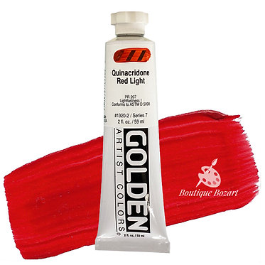 Acrylique Golden Heavy Body 59ml Rouge Quin. Clair 320 S7