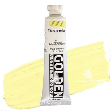 Acrylique Golden Heavy Body 59ml JauneTitanate 375 S1