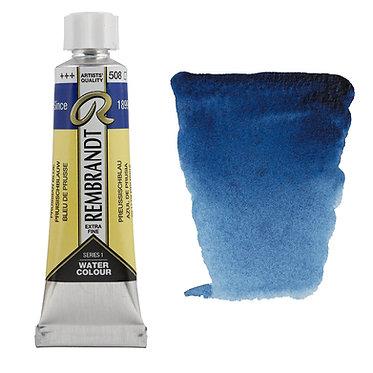Aquarelle Extra-fine Rembrandt tube 10ml - Bleu Prusse 508 S1