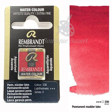 Aquarelle Extra-fine Rembrandt - Laque Garance Permanent 336 série 2
