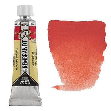 Aquarelle Extra-fine Rembrandt tube 10ml - Rouge Cadmium 305 S3