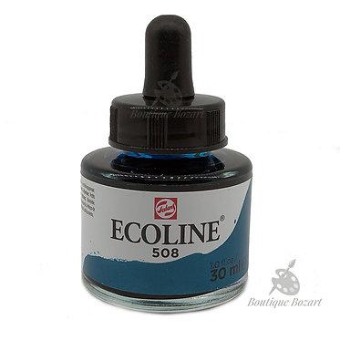 Encre Aquarelle Ecoline 30ml Bleu de Prusse 508