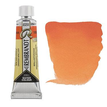 Aquarelle Extra-fine Rembrandt tube 10ml - Orange Brillant 264 S2