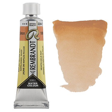 Aquarelle Extra-fine Rembrandt tube 10ml - Jaune Naples Rouge 224 S1