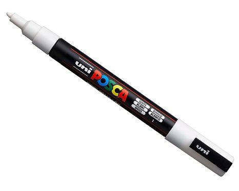 Uni Posca Pointe 0.9-1.3mm PC-3M Blanc