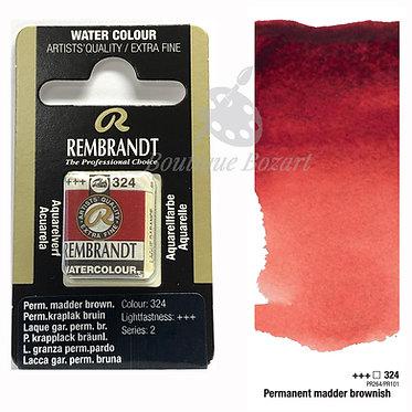 Aquarelle Extra-fine Rembrandt - Laque Gar. Perm. Brun 324 série 2