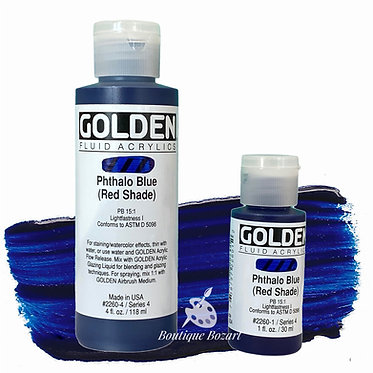 Golden Fluide Acryl - Phtalo Blue (red shade) S4