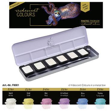 """FINETEC PREMIUM 8001 - 6 couleurs Irisées """"High Sparkle"""""""