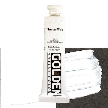 Acrylique Golden Heavy Body 59ml Blanc Titane 380 S1