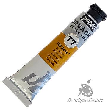 Gouache T7 de Pébéo 20 ml Ocre jaune 100 Série 1