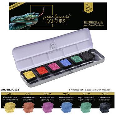 """FINETEC PREMIUM 7002 - 6 couleurs nacrées """"High Chroma"""""""