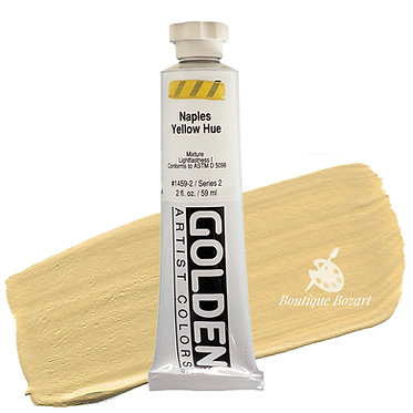 Acrylique Golden Heavy Body 59ml Jaune Naples Hue 459 S2