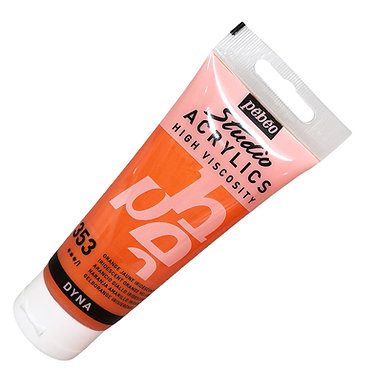 Acrylique Iridescente DYNA Pébéo 100ml Orange Jaune 353