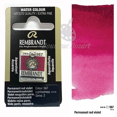 Aquarelle Extra-fine Rembrandt - Violet Rougeâtre Perm. 567 série 2