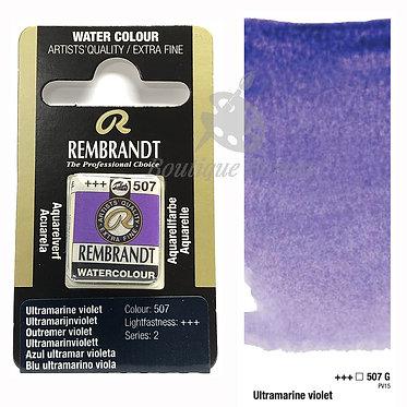 Aquarelle Extra-fine Rembrandt - Outremer Violet  507G série 2