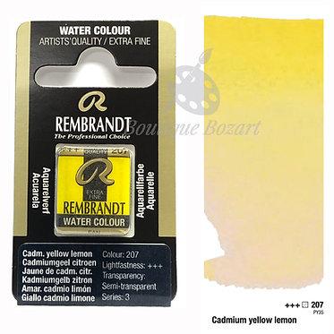 Aquarelle Extra-fine Rembrandt - Jaune Cadmium Citron 207 série 3