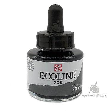 Encre Aquarelle Ecoline 30ml Gris Foncé 706