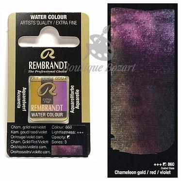 Aquarelle Extra-fine Rembrandt - Chameleon Or/Rouge/violet 860 série 3