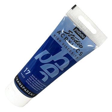 Acrylique Studio Pébéo 100ml Bleu de Phtalocyanine 17