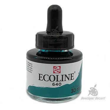 Encre Aquarelle Ecoline 30ml Vert Bleuâtre 640