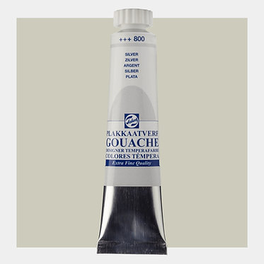 Gouache Extra-fine Quality Talens - Argent 800