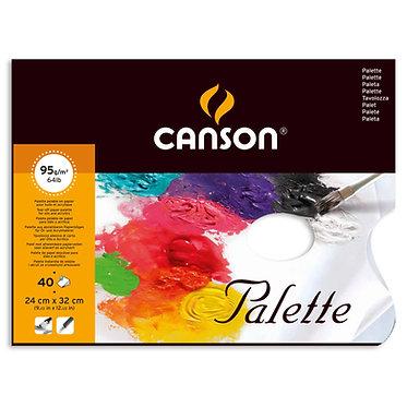 Palettes en papier jetable Canson 24 x 32 cm