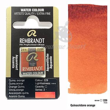 Aquarelle Extra-fine Rembrandt - Orange Quinacridone 229 série 2